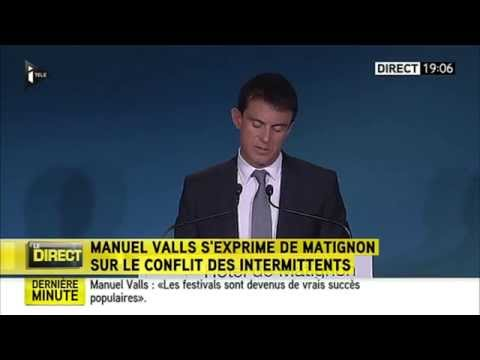 Intervention Manuel Valls sur les intermittents du spectacle 19.06.2014