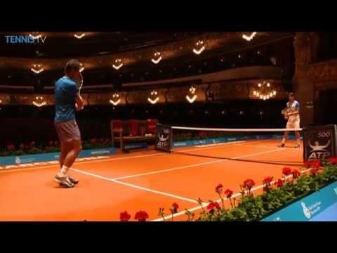 Nadal & Ferrer Hit At The 'Gran Teatre Del Liceu' In Barcelona