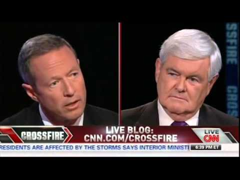 "Rick Perry vs. Martin O'Malley on CNN's ""Crossfire"" 9/17/2013 Part FULL Video"