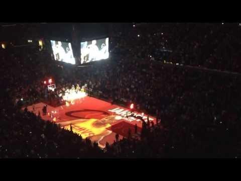 Cleveland Cavaliers intro. 3/8/14 Zydrunas Ilgauskas jersey retirement