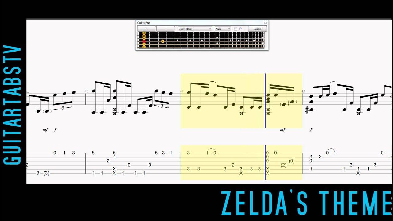 Zeldau0026#39;s Theme Fingerstyle Guitar Pro Tabs - Sungha Jung - YouTube
