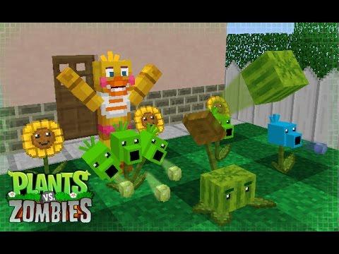 FNAF Monster School: Plants vs Zombies - Minecraft Animation