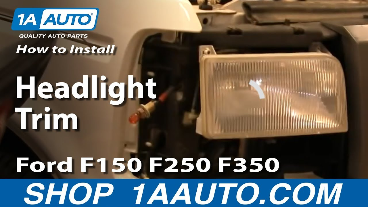 How To Install Replace Headlight And Bulb Ford F150 F250 F350 92 .html
