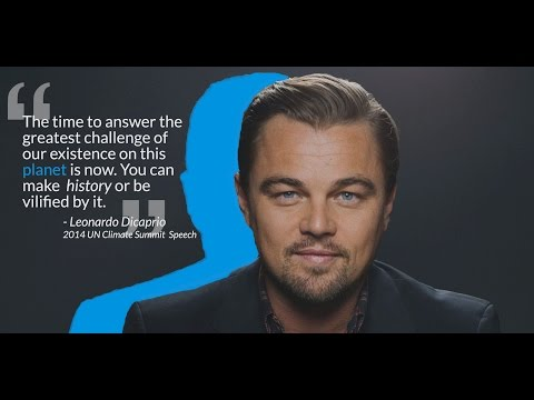 Leonardo Dicaprio on Climate Change
