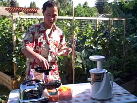 Omega 8006 Juicer vs Hurom Slow Juicer Juicing 5 pounds of carrots - YouTube