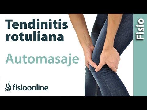 Auto-masaje para la tendinitis rotuliana o del tendón rotuliano.