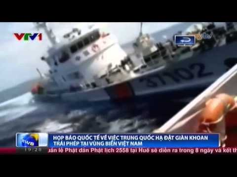 Bản tin thời sự VTV ngày 7-5-2014 về tàu Trung Quốc tấn công tàu kiểm ngư Việt Nam ngoài giàn khoan