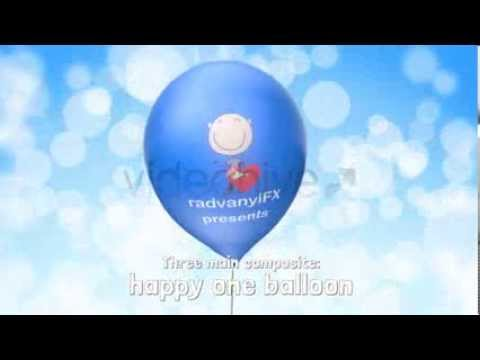Happy Balloons Logo Opener - Element 3d