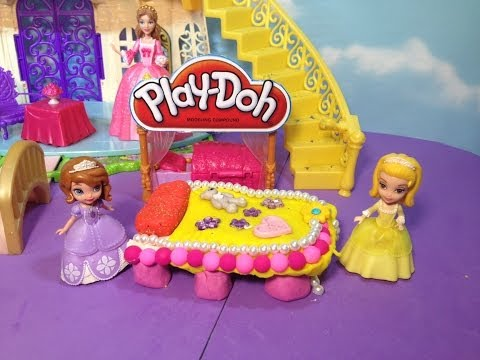 Play -Doh Disney Junior Sofia the First How to Make a Play Doh Bed for Princess Amber