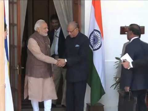 Indian PM Meets South Asian Leaders in New Delhi