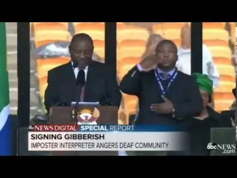 [FULL] Fake Interpreter at Mandela Memorial Blames Schizophrenia