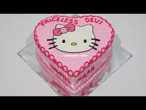 HELLO KITTY CAKE LOVE ! HOW TO MAKE BIRTHDAY CAKE