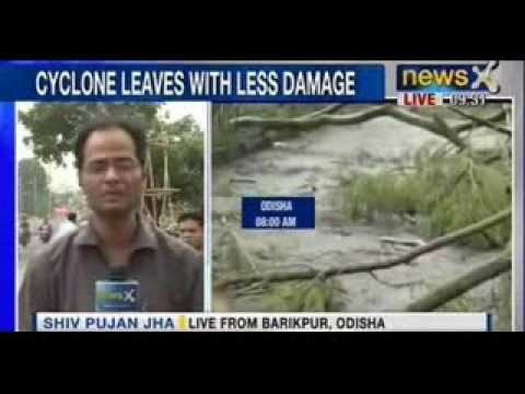 NewsX : Phailin Cyclone- Rescue operation begins in Odisha, cyclone leaves less damage
