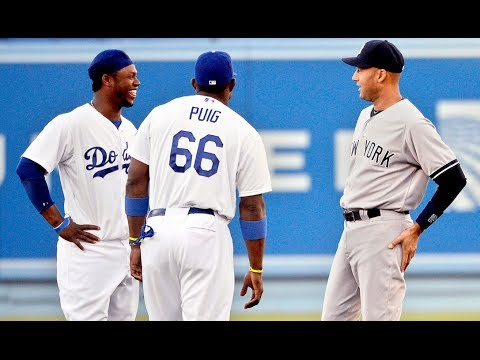 Los Angeles Dodgers Hanley Ramirez on New York Yankees Derek Jeter