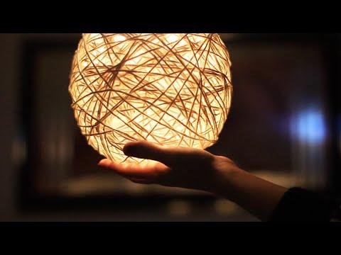 DIY: Luminária de Barbante   Aprenda a fazer