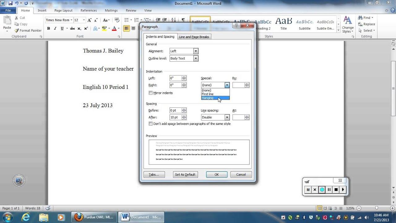 Microsoft word essay