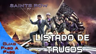 Saints Row 4 Trucos / Cheats
