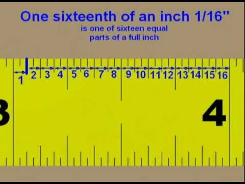 How To Read A Tape Measure Youtube