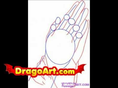 Praying Hands Drawing Step Step