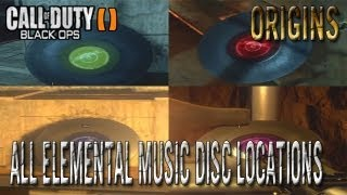 Black Ops 2 Zombies Origins All Music Discs/Records