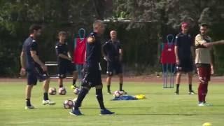 Il primo allenamento della stagione 2016/2017