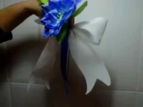 Tutorial como decorar tu coche de boda it decorates your car of wedding youtube - Decoracion coche novia ...