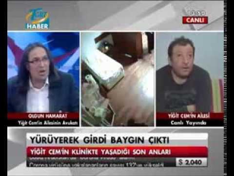 Yiğit Cem KABA'nın ölümünde Sabiha Paktuna'nın ihmal iddiaları / TGRT Haber (06.12.2013)