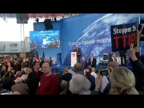Frank-Walter Steinmeier 19 Mai Berlin Alexanderplatz Europawahl