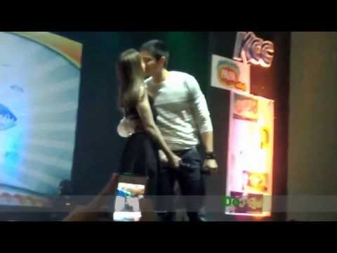 Dingdong and Marian kilig duet+kiss at Tuna Festival 2013
