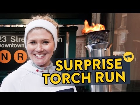 Surprise Torch Run prank