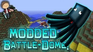 Minecraft: MODDED MORPH BATTLE-DOME w/Mitch & Friends Part 2 - SQUID NOOOO!