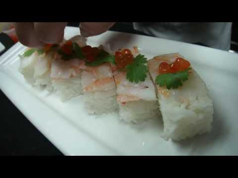 How to Make Oshi Style Shrimp Sushi with Master Sushi Chef Hiro Terada