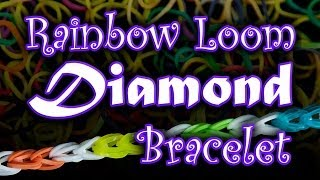 How To Make A Rainbow Loom Diamond Bracelet HD