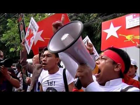 Biểu tình trước ngày bầu cử của Myanmar