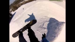 massive snowboarding faceplant