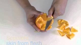 How to Create an Orange Flower Garnish