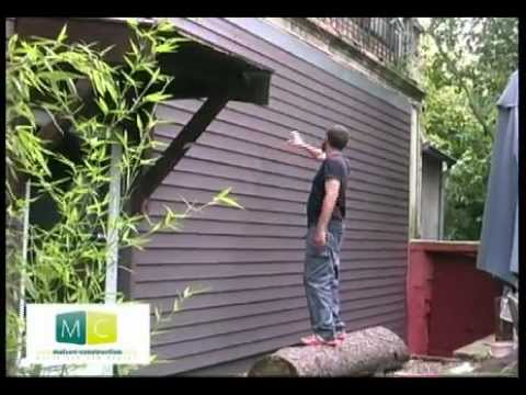 pose bardage bois laying wood siding on an old facade cladding youtube. Black Bedroom Furniture Sets. Home Design Ideas