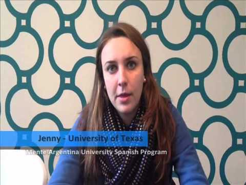 A testimonial from Jenny, student from University of Texas -- USA, who participated in the Mente Argentina University Spanish Program at University of Belgrano 2013.