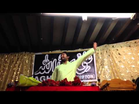 Zakir Muntazir Mehdi Reciting at Imam Bargah dua-e-Zehra Northampton