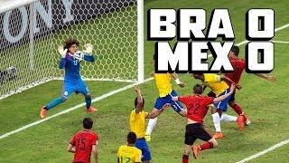 Ochoa's AMAZING Save Helps Mexico Draw Brazil [Mexico Vs