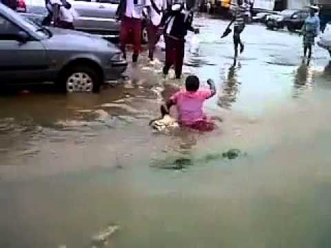 Accra Flood: Woman Almost Got Drowned