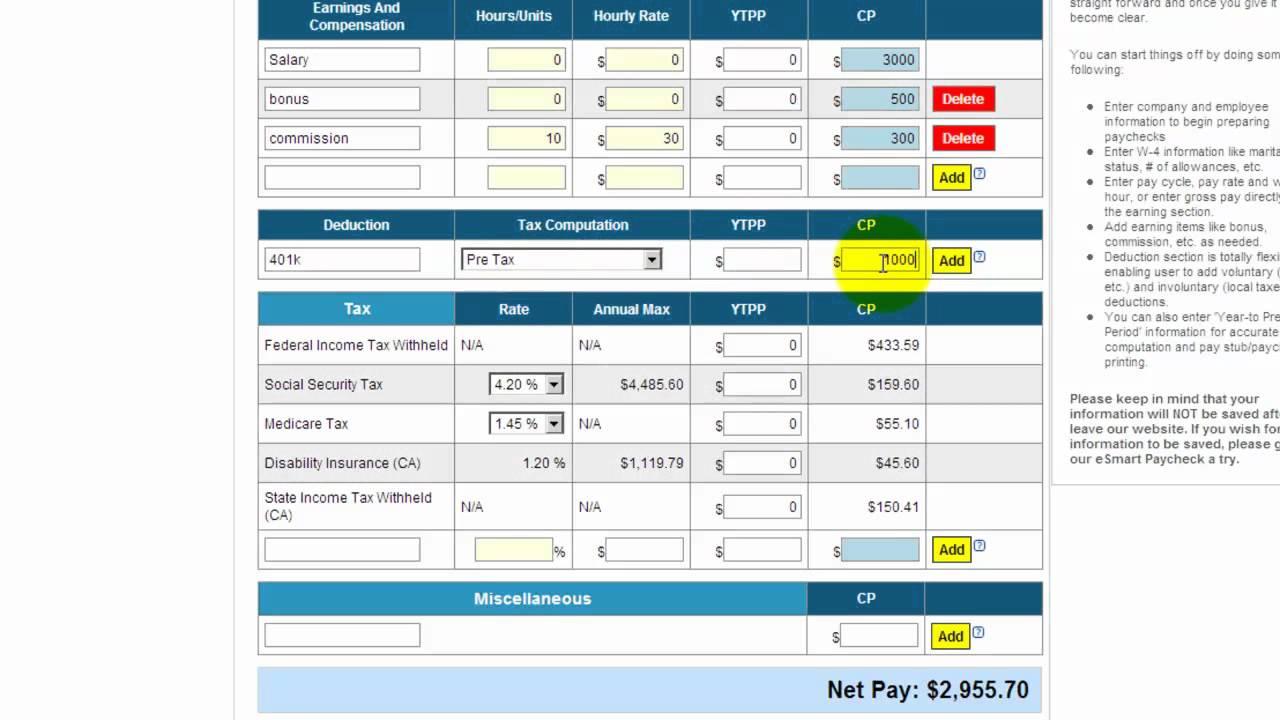 hour paycheck calculator