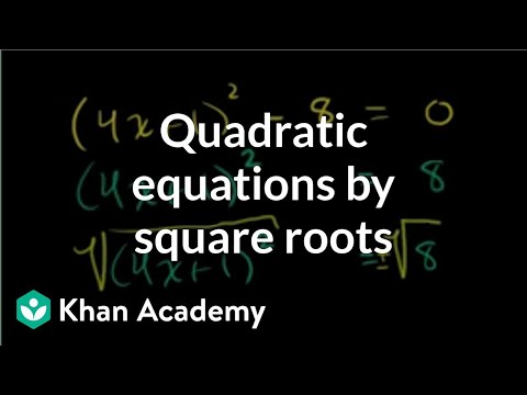 Solving Quadratics by Equation