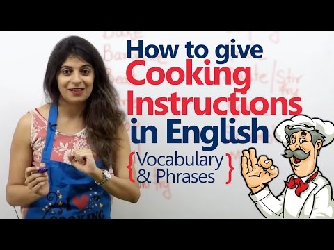 Cooking Verbs, Phrases & Vocabulary - Spoken English Lesson | Speak English fluently & Confidently
