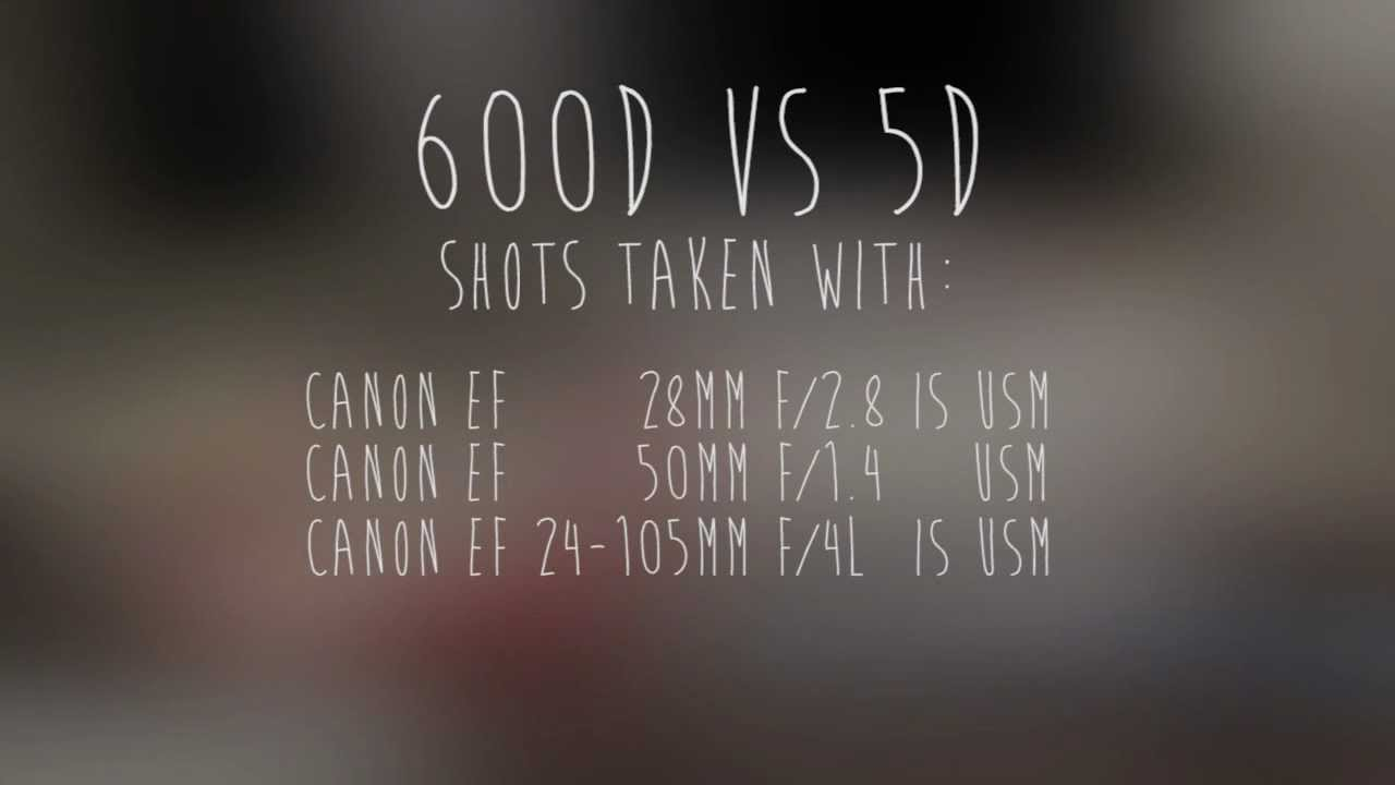canon 600d t3i rebel vs canon 5d mark ii youtube