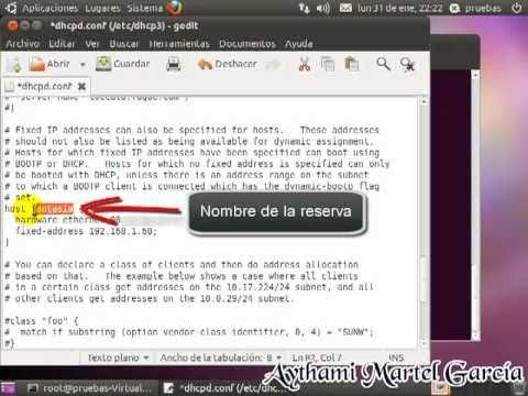 Linux Ubuntu 10.10 - Servidor DHCP
