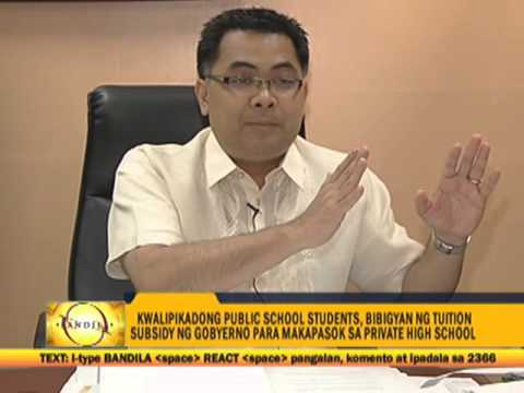 Qualified public school students to get tuition subsidy
