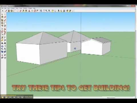 How to Create a Simple Roof using Google SketchUp - Updated