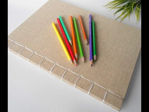 My handmade sketchbook product review - A4 Fabric sketchbook journal with japanese stab binding