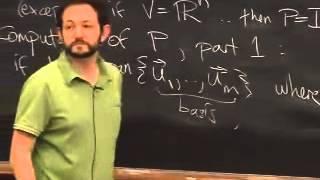 Lec 12 - Linear Algebra | Princeton University